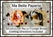 Ma Belle Paperie Paris Dimensional Paper Cottage Roses Set 2