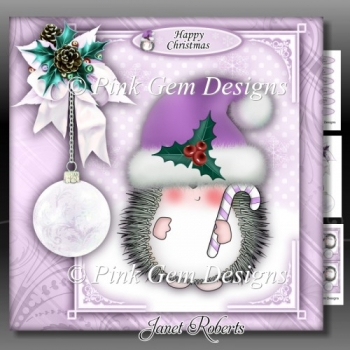 Hedgy with Candy Cane Lilac Mini Kit