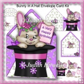 Bunny In A Hat Envelope Card Kit