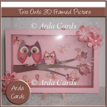Two Owl 3D Framed Picture