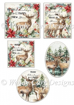 RTP WINTER WOODLAND TOPPERS AND LABELS