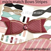 mix and match bows stripes
