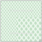 Easter Eggs Mint Backing Paper