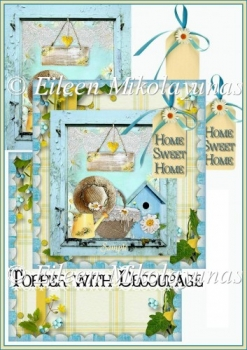 Home Sweet Home Country Chic Topper with Decoupage