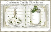 Christmas Candle Glow Open Book Insert