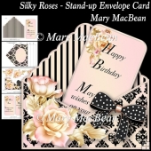 Silky Roses - Stand-up Envelope Card