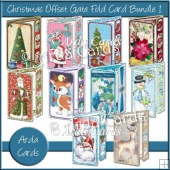Christmas Offset Gate Fold Card Bundle #1