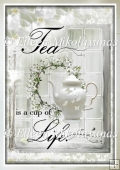Tea Time Inspiration Backing Background Paper