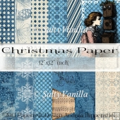 "Blue Christmas background papers 12""x12"" inch"