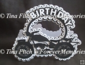 Birthday Bike card TF0159,SVG,MTC,SCAL,CAMEO,CRICUT