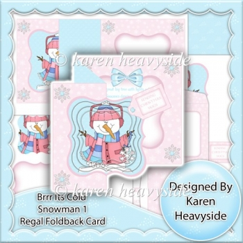 Brrr Its Cold Snowman 1 Regal Foldback Card