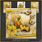 Vintage Birthday Flowers Card Kit 1046