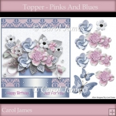 Topper - Pinks and Blues