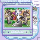 UNICORN YOU'RE ONE OF A KIND 7.5 Humorous Decoupage & Insert Kit