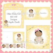 ETHNIC NEW BABY GIRL 6X6 CARD