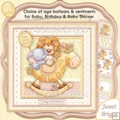 ANIMAL ROCK Baby Shower Baby or Birthday Decoupage Insert Kit