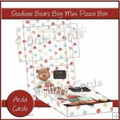 Studious Teddies Boys Mini Pizza Box