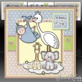 New Baby Boy Stork Mini Kit