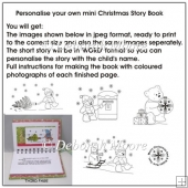 Personalise your own mini Christmas Story Book