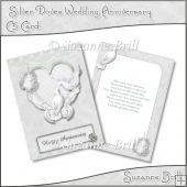 Silver Doves Wedding Anniversary C5 Card