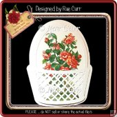 290 Lattice Basket of Flowers Card *Multiple MACHINE Formats*