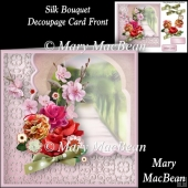 Silk Bouquet Decoupage Card Front