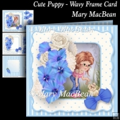 Cute Puppy - Wavy Frame Card