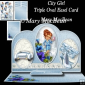 City Girl - Triple Oval Easel Card