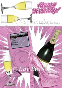 pink sparkle shoes, with MP3 Music & wine 8x8