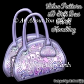Lilac Pattern 3D Gift Box In A Handbag