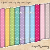 10 Spring Desires Tiny Ditsy Dots A4 Papers