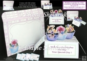 Birthday CupCakes Pop-Up Box Card Kit & Matching Envelope