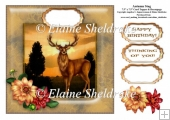 Autumn Stag - 7.5 x 7.5 Card Topper Fist 8 x 8 Cards Comfortably