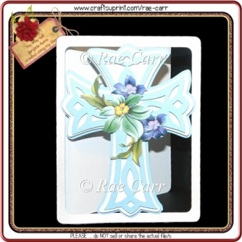527 Layered Cross Card *Multiple MACHINE Formats*