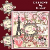 Paris Puzzle Card Front and Insert