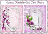 Set of 2 Cottage Feminine Chic Quick Card Fronts
