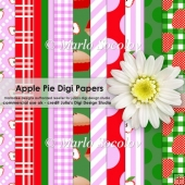 Apple Pie Themed Digital Paper Pack {A4 Size}