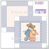 Blue/Peach Bear Friends 5x5 Box(Retiring in October)