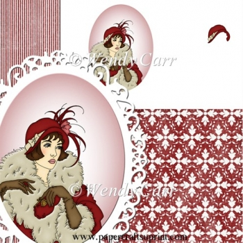 RTP Oval Frilly Die Cutting Lady 4(Retiring in August)