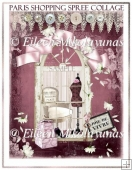 Paris Flea Market Chic Shopping Spree Collage Journal Cover