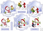 Snowman collection toppers