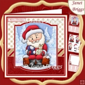 GIFT FROM SANTA 7.5 Christmas Decoupage & Insert Kit