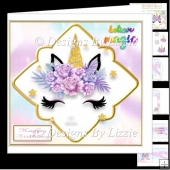 My Little Unicorn 8 Birthday Card Mini Kit