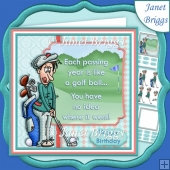 GOLF THE PASSING YEARS 7.5 Decoupage & Insert Kit