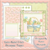 Easter Basket Decoupage Topper