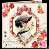 Vintage Lady Music Lover