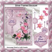 Silver Framed Bouquet