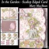 In the Garden - Scallop Edged Card