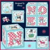 Polar Pals Noel Favour Boxes with freebie Place Mat