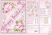 Females card. 12 tags, insert and envelope